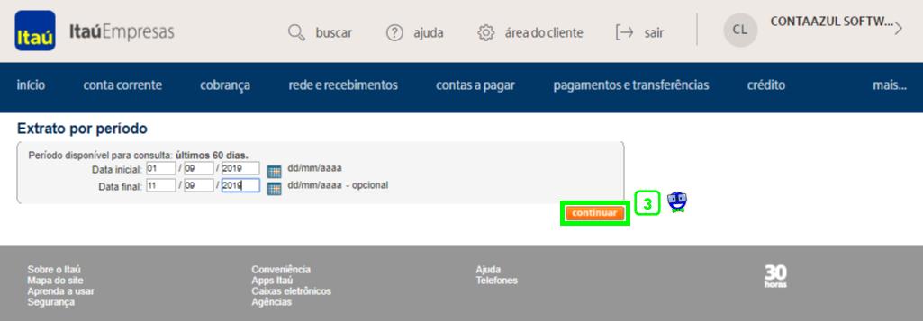 Como exportar o extrato do Itaú em arquivo OFX 2 Como exportar o extrato do Itaú em arquivo OFX