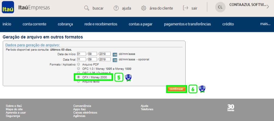 Como exportar o extrato do Itaú em arquivo OFX 4 Como exportar o extrato do Itaú em arquivo OFX