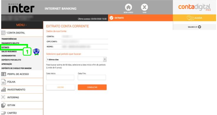 Como exportar o extrato do Banco Inter em formato OFX 1 Como exportar o extrato do Banco Inter em formato OFX