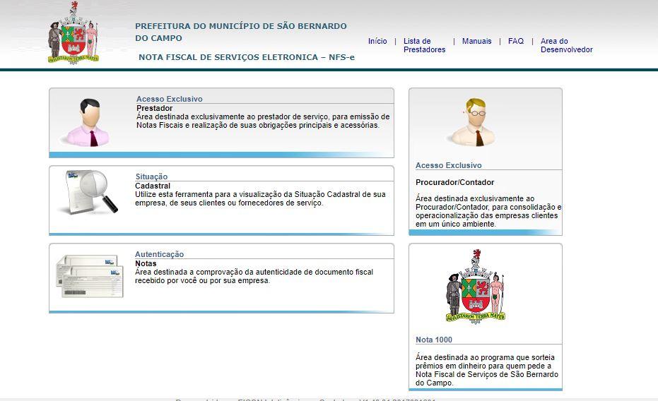Como emitir notas fiscais de prestação de serviços no site Ginfes? 1 Ginfes