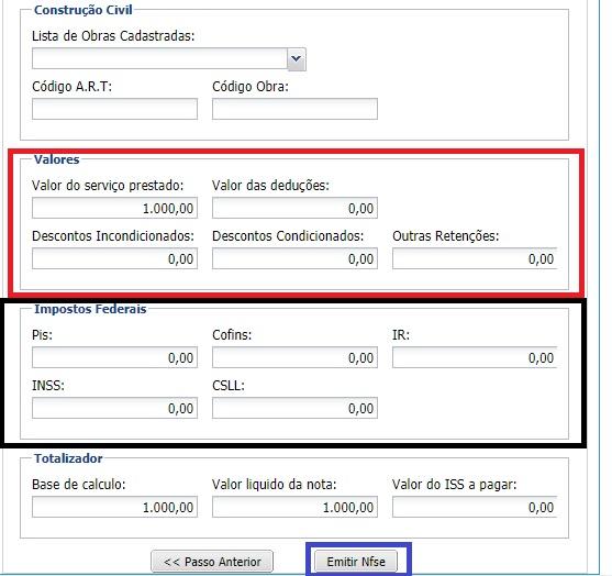 Como emitir notas fiscais de prestação de serviços no site Ginfes? 6 Ginfes